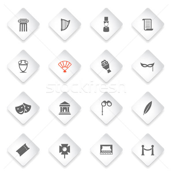 Stock photo: Theatre simply icons