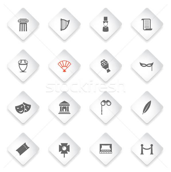 Teatro simplemente iconos símbolos web usuario Foto stock © ayaxmr