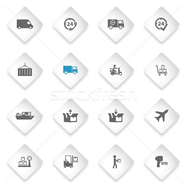 Entrega simplesmente ícones símbolo os ícones do web usuário Foto stock © ayaxmr