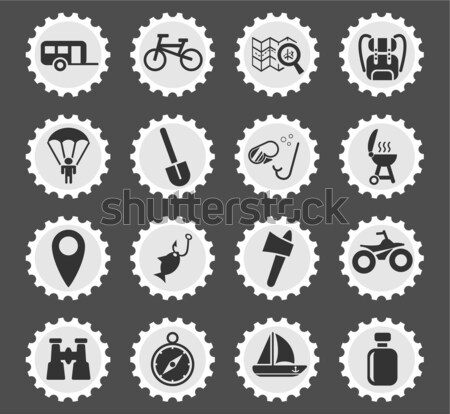 Moto racing web icons gebruiker interface Stockfoto © ayaxmr