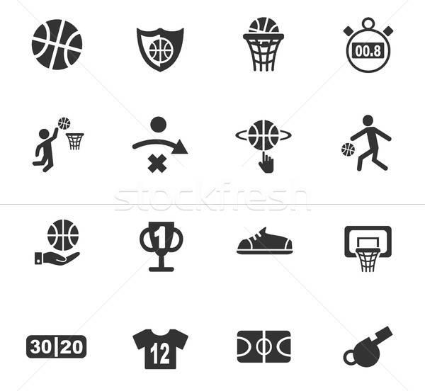 Basketbal web icons gebruiker interface ontwerp Stockfoto © ayaxmr