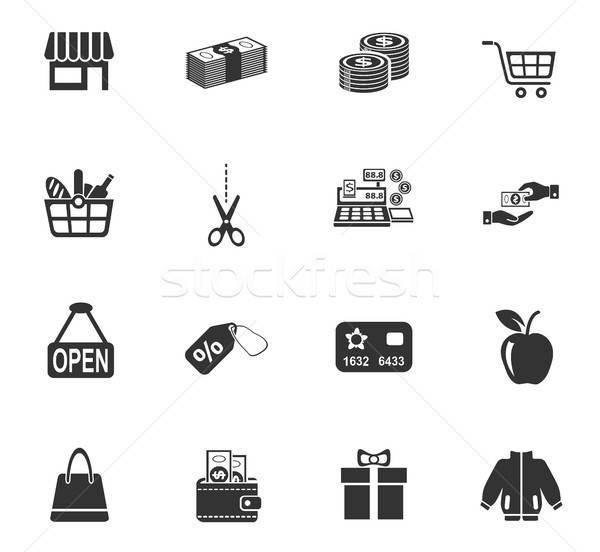Compras iconos de la web usuario interfaz diseno Foto stock © ayaxmr