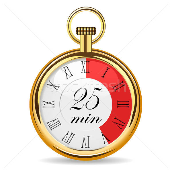 Stock photo: mechanical watch timer 25 minutes