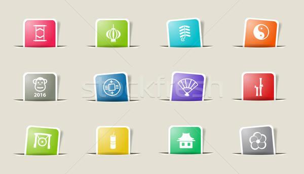 Zdjęcia stock: Chiński · nowy · rok · po · prostu · ikona · internetowych · użytkownik