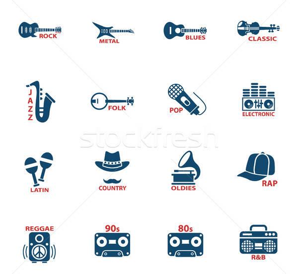 Musical os ícones do web usuário interface projeto música Foto stock © ayaxmr