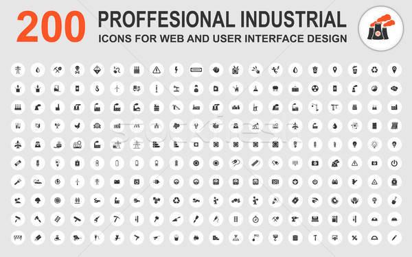 Profesyonel endüstriyel simgeler web kullanıcı arayüz Stok fotoğraf © ayaxmr