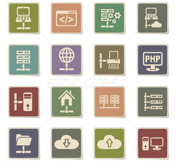 Sunucu web simgeleri kullanıcı arayüz dizayn Stok fotoğraf © ayaxmr