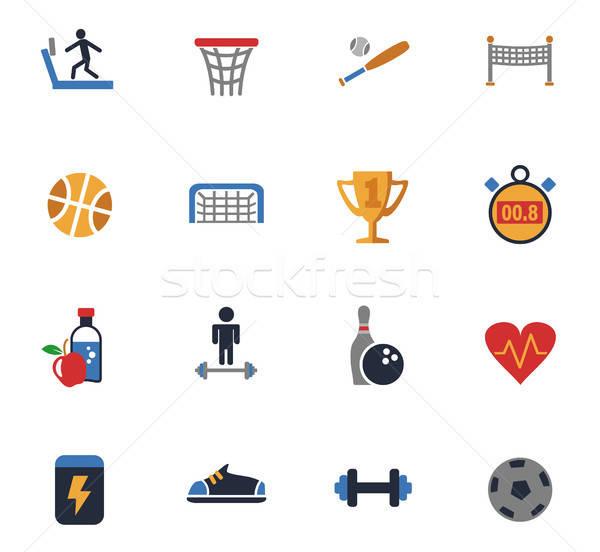 Sportu web ikony użytkownik interfejs projektu Zdjęcia stock © ayaxmr