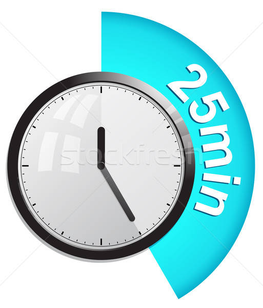 Timer 25 minutes vector illustration Stock photo © ayaxmr