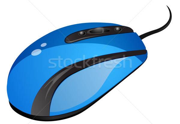 青 コンピューターのマウス eps 10 ビジネス デザイン ストックフォト © ayaxmr