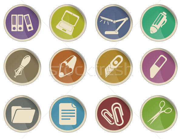 Office vector icons Stock photo © ayaxmr