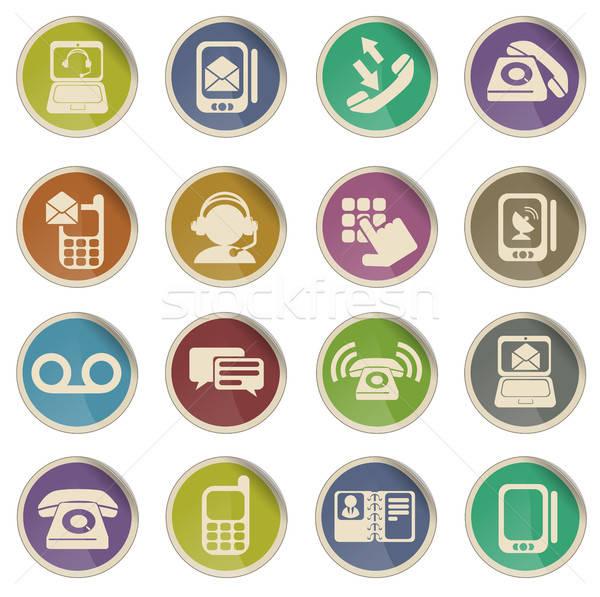 Telefon etiket simgeler web kullanıcı Stok fotoğraf © ayaxmr