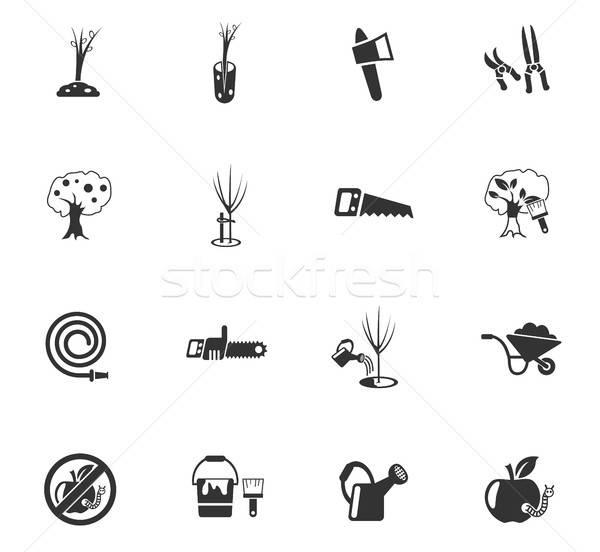 Tuinieren web icons gebruiker interface ontwerp Stockfoto © ayaxmr