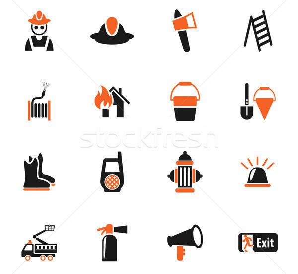 Stock photo: fire brigade icon set