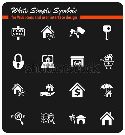 Onroerend web icons gebruiker interface ontwerp Stockfoto © ayaxmr