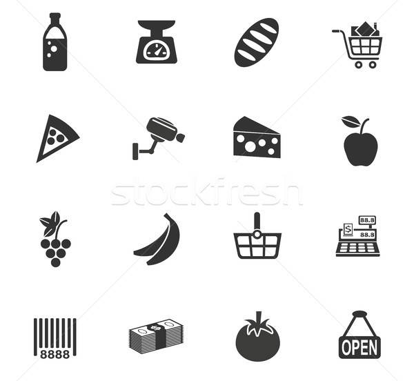 Stock photo: grocery store icon set