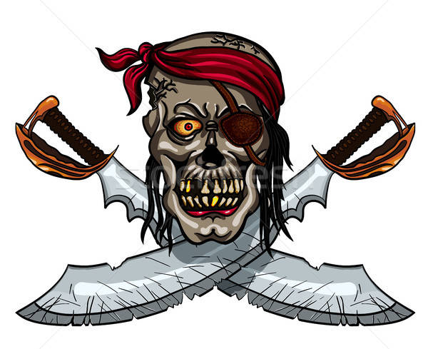 Pirate Skull and crossed sables Stock photo © ayaxmr