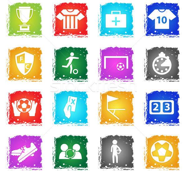 football icon set Stock photo © ayaxmr