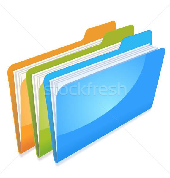 folders with documents Stock photo © ayaxmr