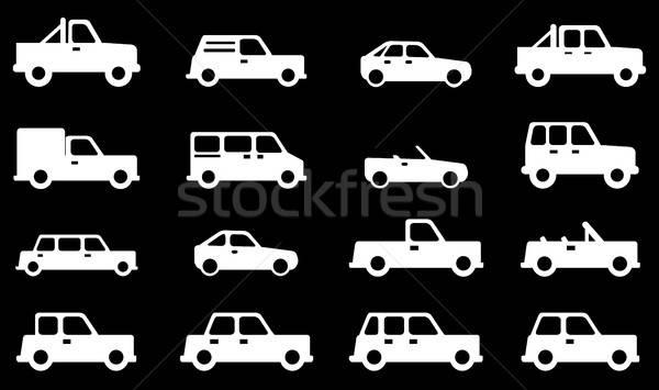 Carros simplesmente ícones símbolos teia usuário Foto stock © ayaxmr