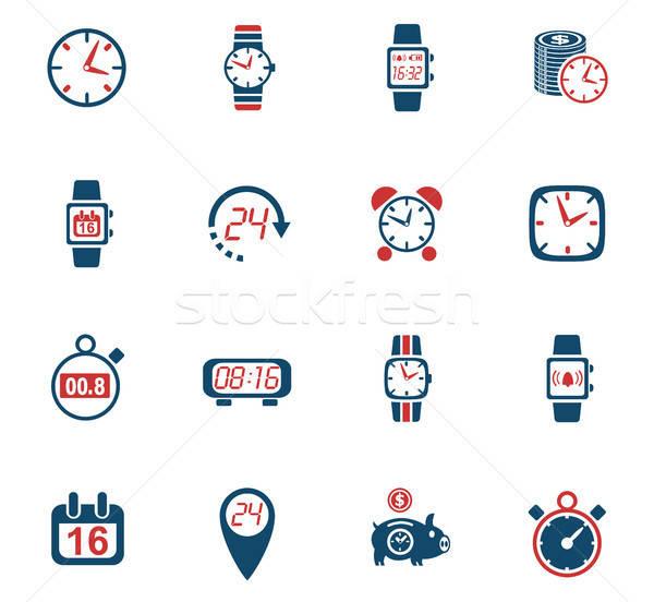time icon set Stock photo © ayaxmr