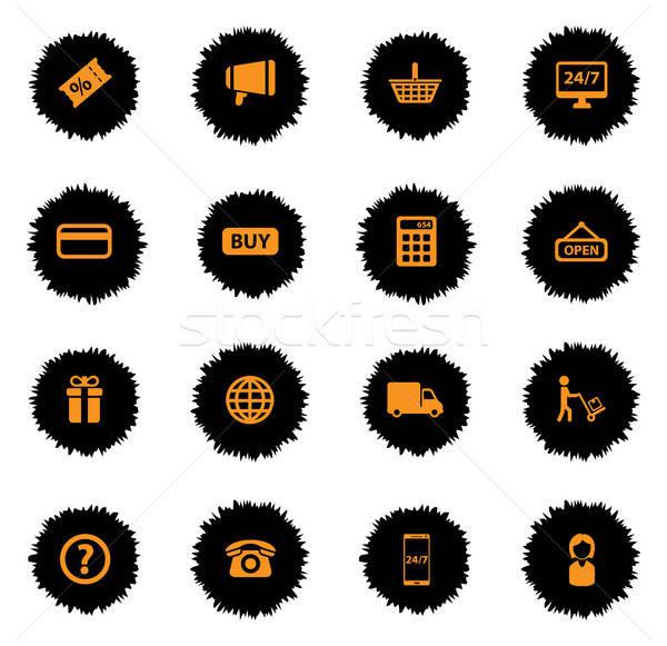 Ecommerce simplesmente ícones vetor teia usuário Foto stock © ayaxmr