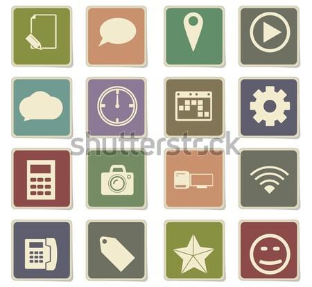Social media eenvoudig iconen web gebruiker Stockfoto © ayaxmr