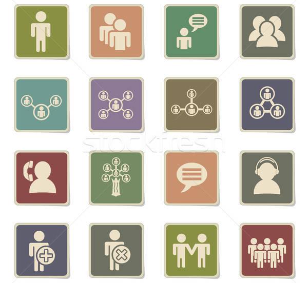 コミュニティ webアイコン ユーザー インターフェース デザイン ストックフォト © ayaxmr