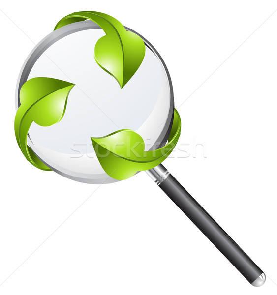 Realistic vector magnifying glass Stock photo © ayaxmr