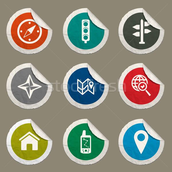 навигация просто иконки веб пользователь Сток-фото © ayaxmr