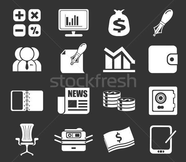 Iş finanse web simgeleri sadece simge kalem Stok fotoğraf © ayaxmr