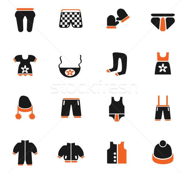baby clothes icon set Stock photo © ayaxmr