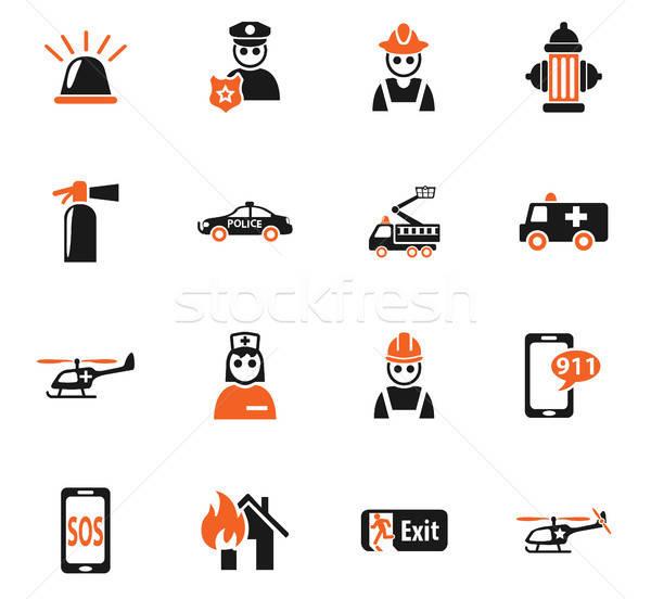 Emergencia iconos de la web usuario interfaz diseno Foto stock © ayaxmr