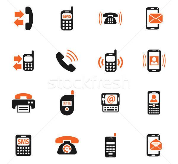 телефон веб-иконы пользователь интерфейс дизайна Сток-фото © ayaxmr