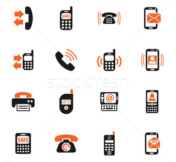 Telefoon web icons gebruiker interface ontwerp Stockfoto © ayaxmr