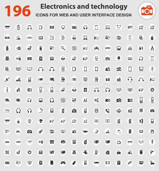 electronics icon set Stock photo © ayaxmr
