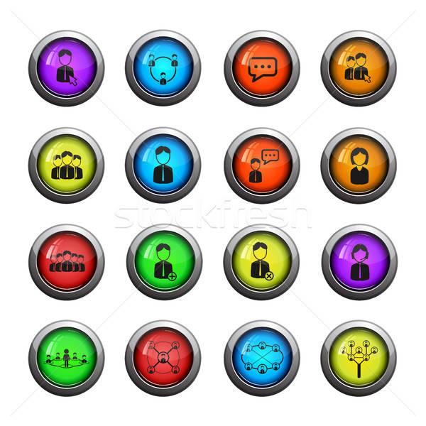 Comunicación icono web usuario interfaz Foto stock © ayaxmr