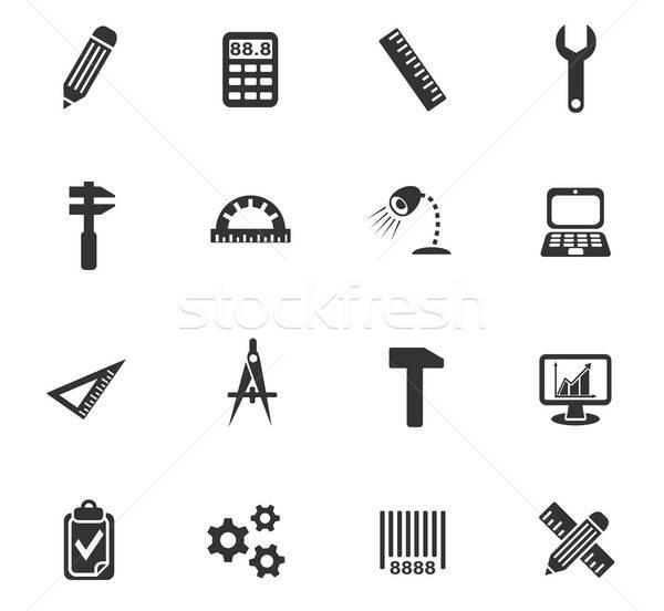 engineering icon set Stock photo © ayaxmr