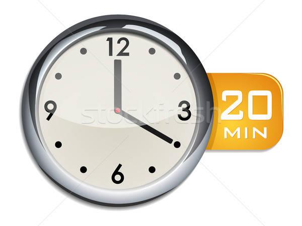 Biuro ściany zegar regulator czasowy 20 protokół Zdjęcia stock © ayaxmr