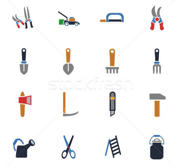 garden tools icon set Stock photo © ayaxmr
