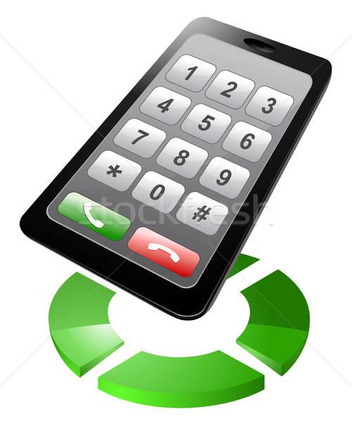 смартфон прибыль на акцию 10 связи черный вызова Сток-фото © ayaxmr