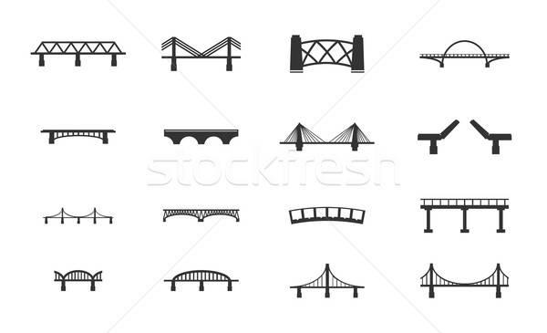 Bridges icons set Stock photo © ayaxmr