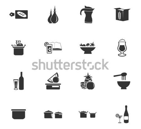 食品 キッチン 単に アイコン ウェブ ストックフォト © ayaxmr