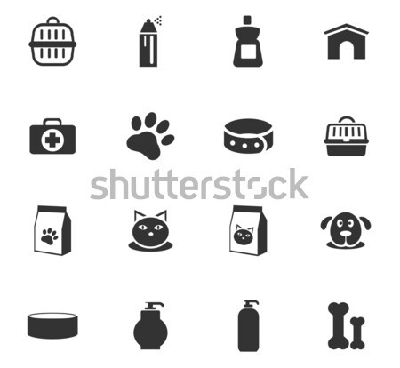 Goods for pets icons set Stock photo © ayaxmr