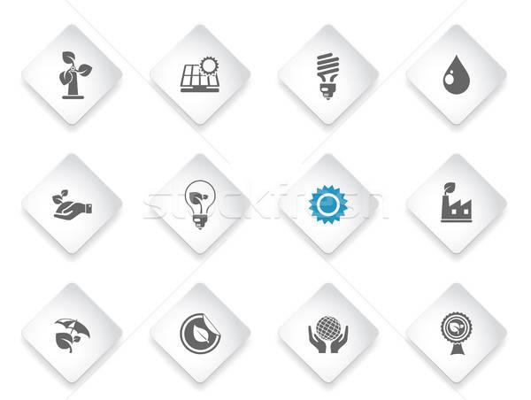 Ekologia po prostu symbol web ikony użytkownik Zdjęcia stock © ayaxmr