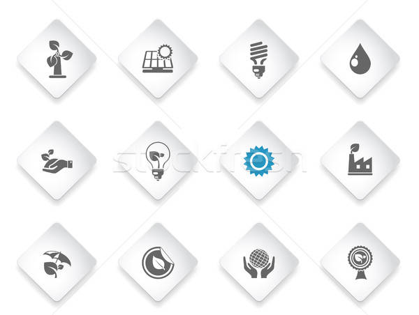 Ecologie eenvoudig symbool web icons gebruiker Stockfoto © ayaxmr