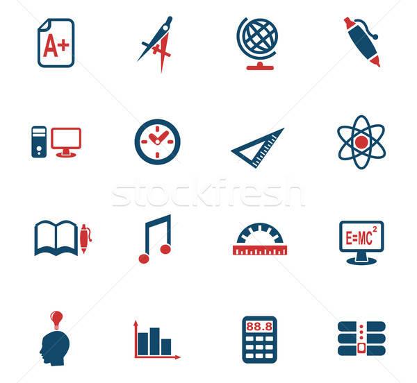 Universidade os ícones do web usuário interface projeto Foto stock © ayaxmr
