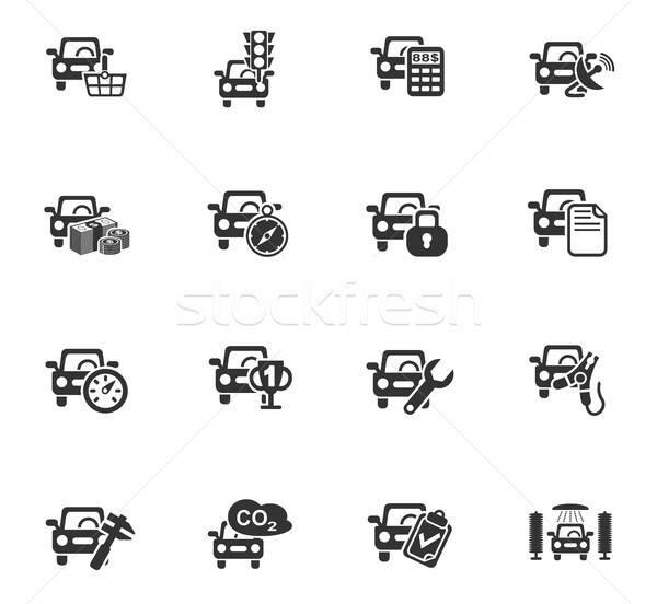 Auto dienst web icons gebruiker interface Stockfoto © ayaxmr
