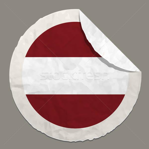 Vlag papier label symbool Stockfoto © ayaxmr