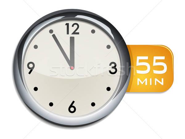 Iroda fal óra időzítő jegyzőkönyv izolált Stock fotó © ayaxmr